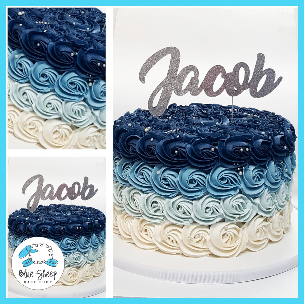 blue ombre rosette cake nj best cakes in nj