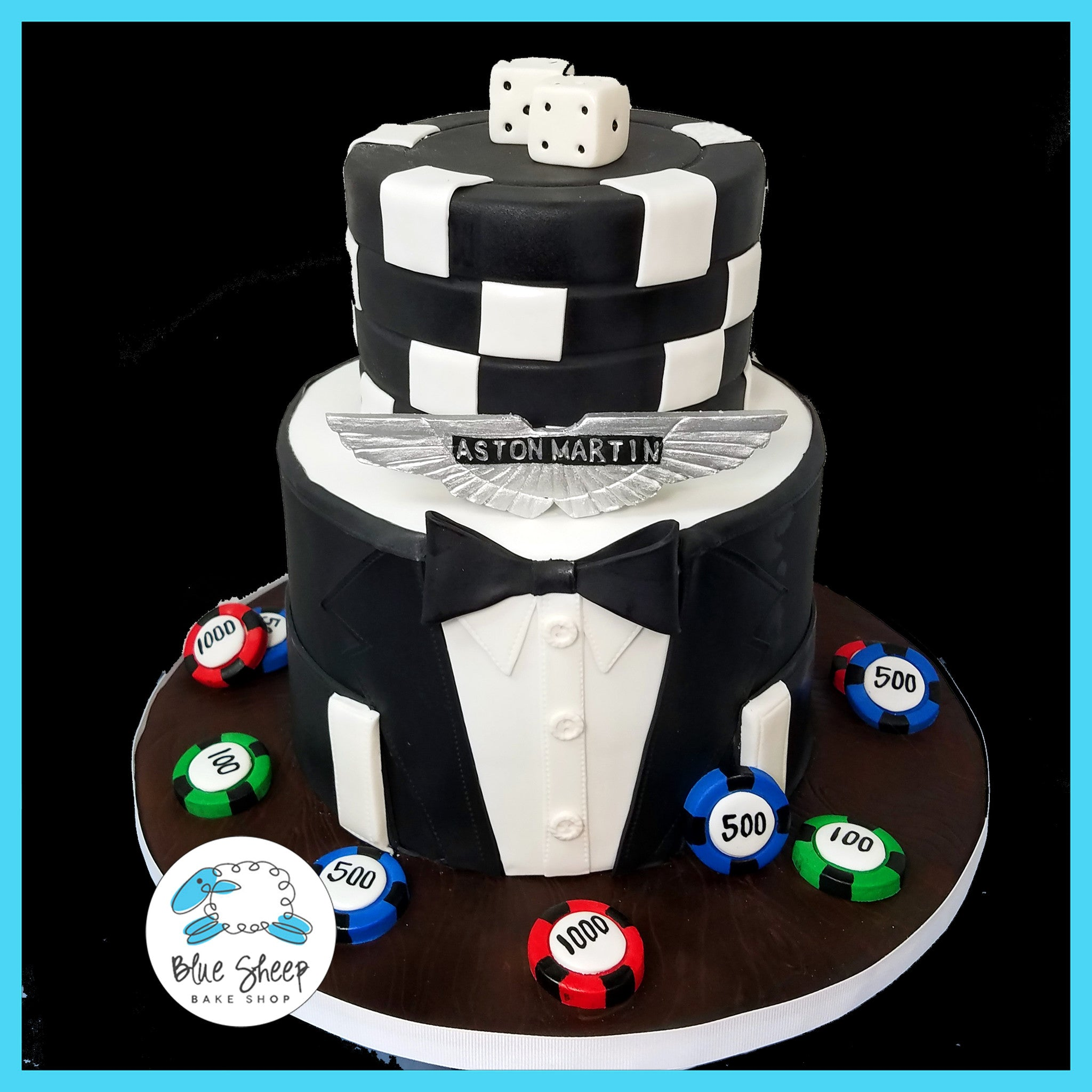 James Bond Groom S Cake Blue Sheep Bake Shop
