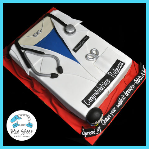 lab coat doctors cake