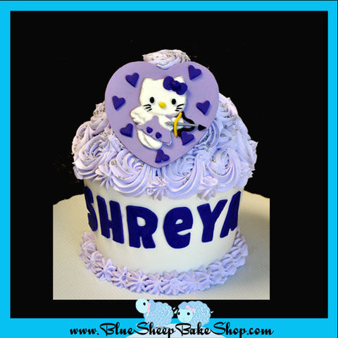 Custom Hello Kitty Giant Cupcake Birthday Cake in NJ