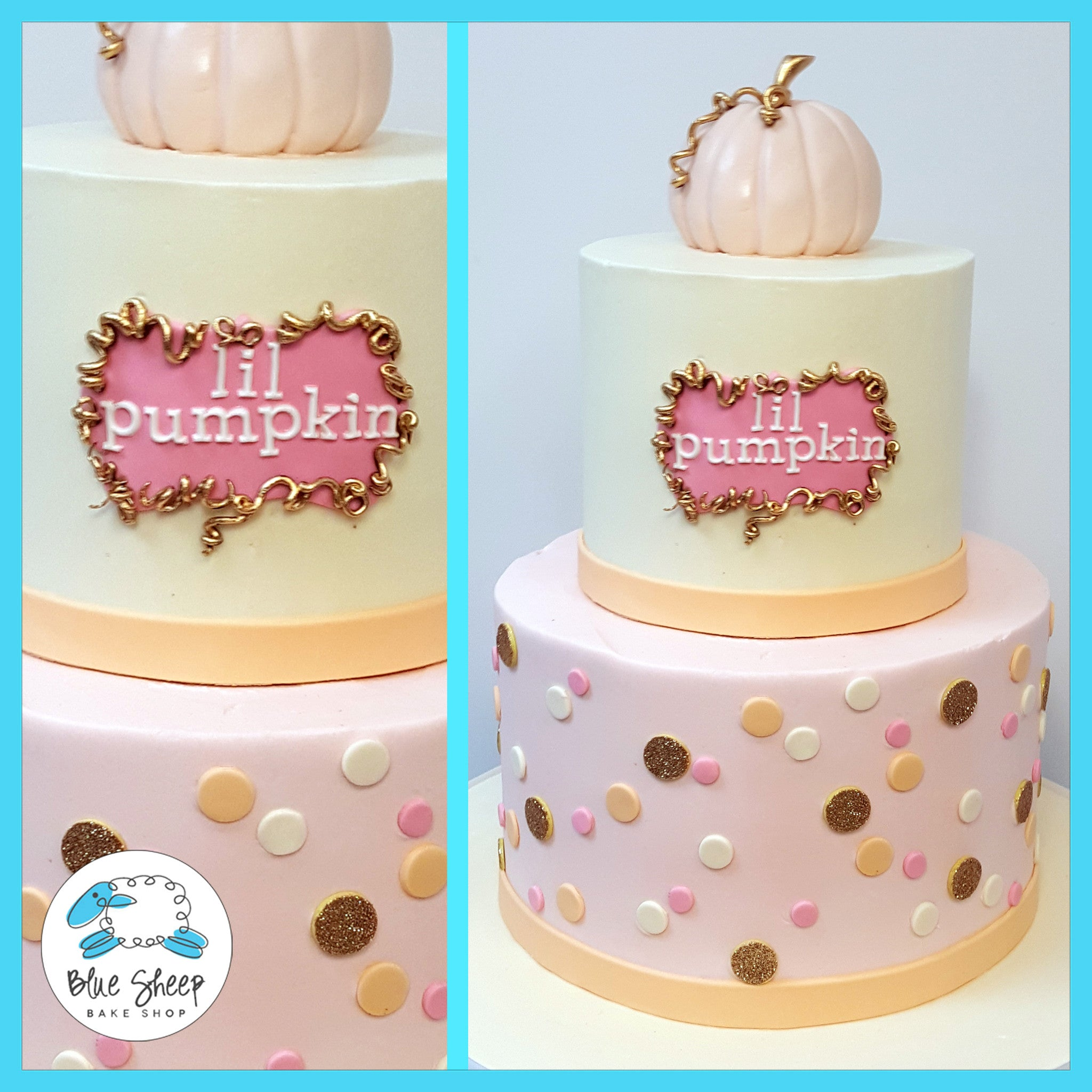 Stupendous Lil Pumpkin 1St Birthday Cake Nj Blue Sheep Bake Shop Personalised Birthday Cards Beptaeletsinfo