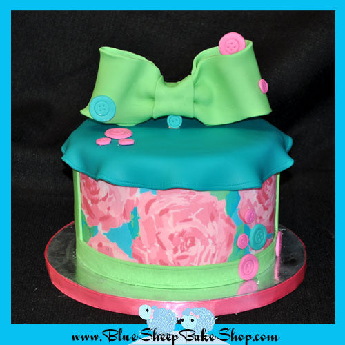 lilly pulizter bridal shower cake
