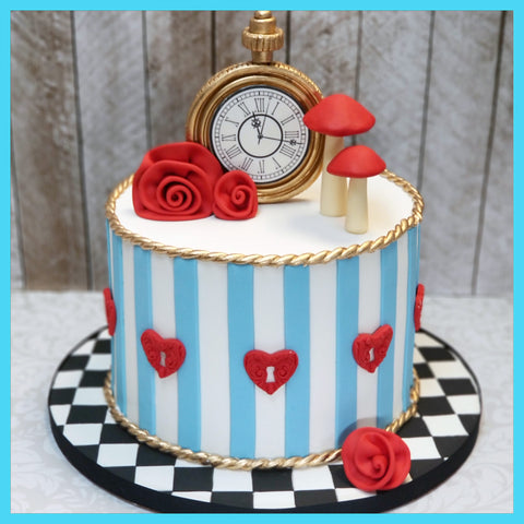 Alice In Wonderland Birthday Cake IV (Liv in One-derland!)