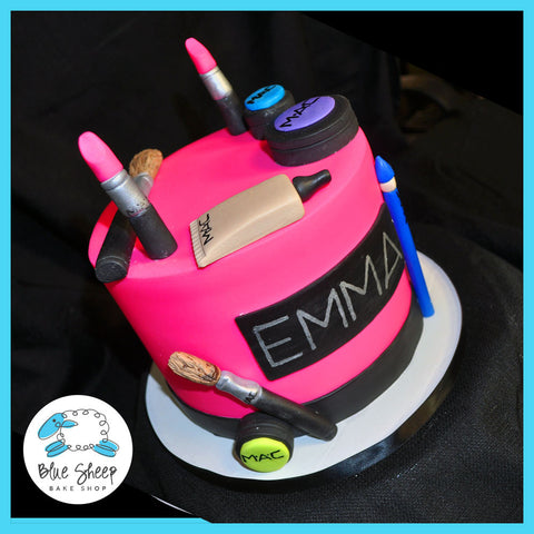 MAC makeup sweet 16 birthday cake