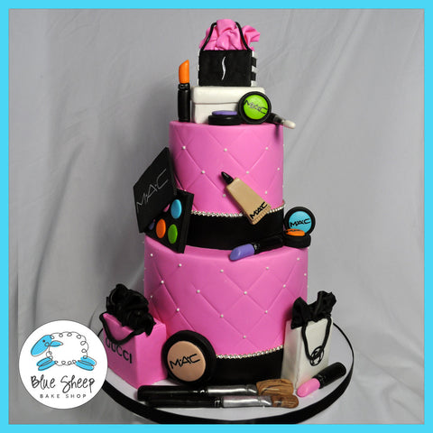 Mac Makeup & Shopping Sweet 16 Cake