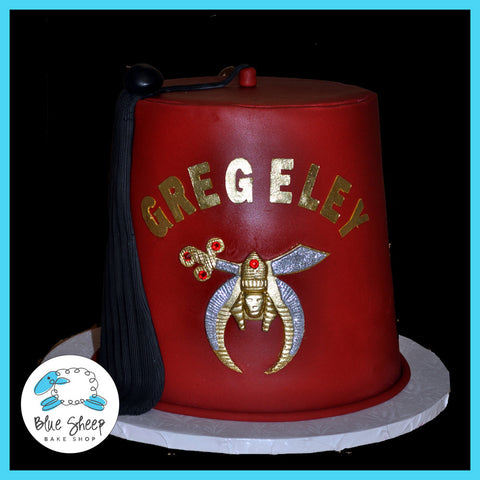 masonic fez cap 50th birthday cake