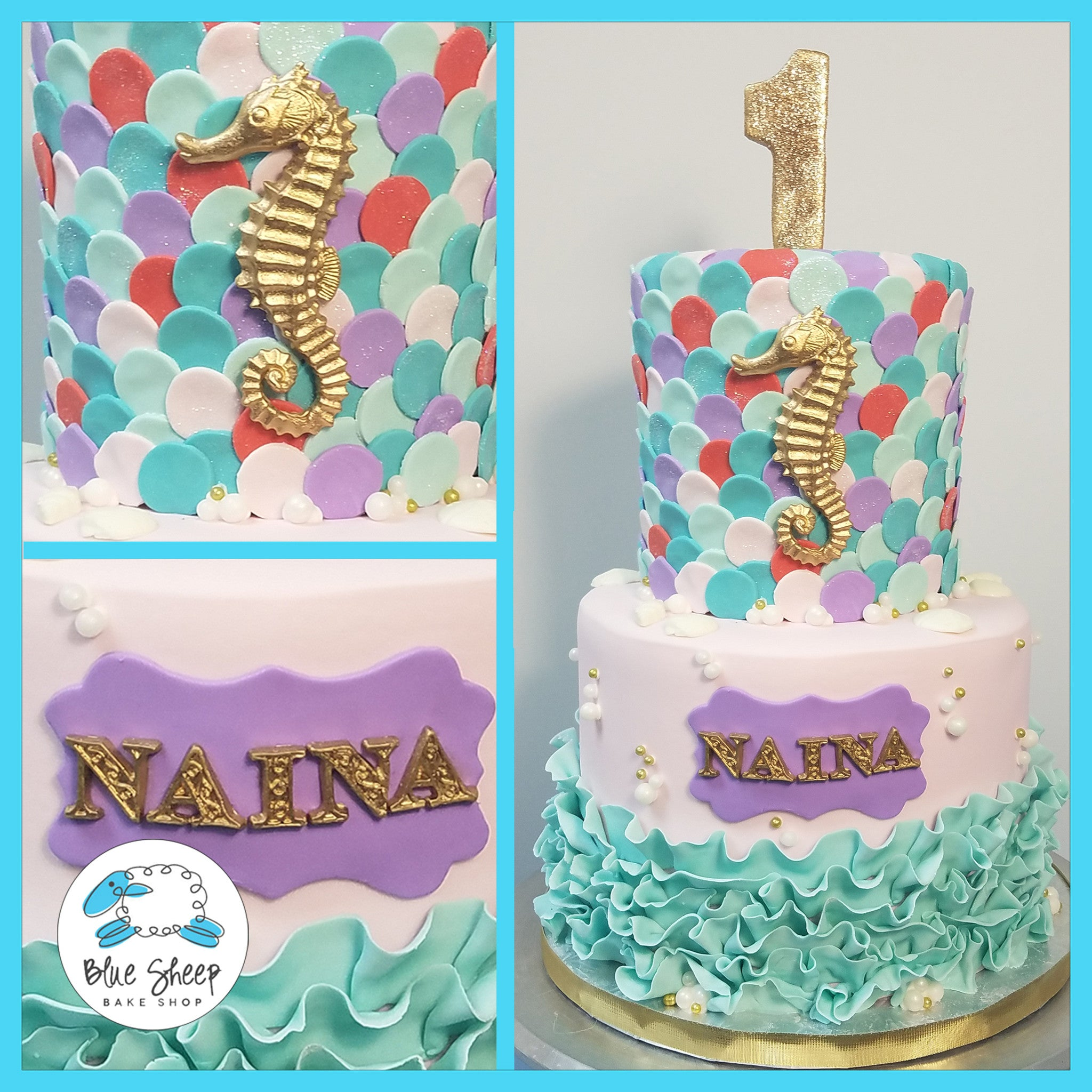 Nainas Mermaid Cake Blue Sheep Bake Shop