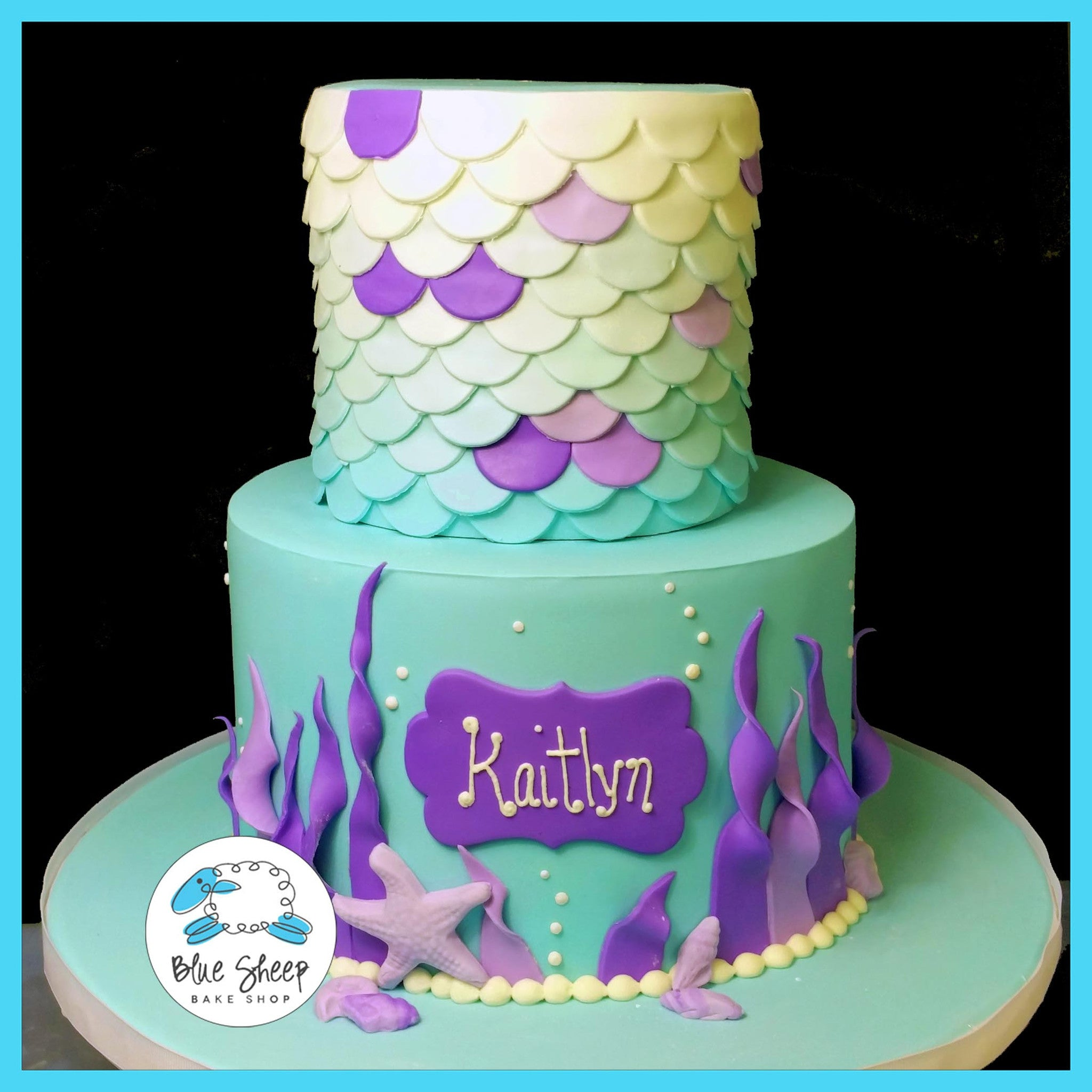 Mermaid Birthday Cake Blue Sheep Bake Shop