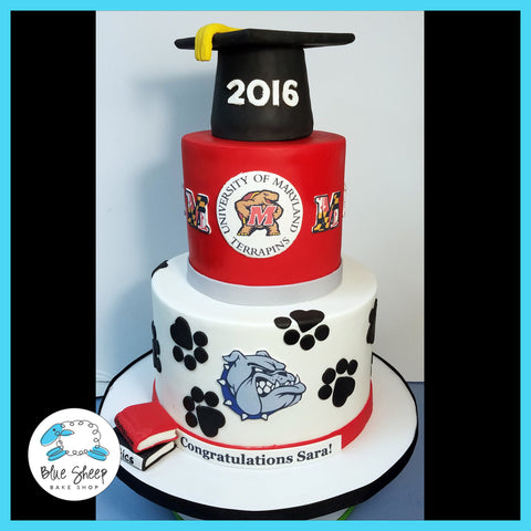metuchen bull dogs graduation cake nj