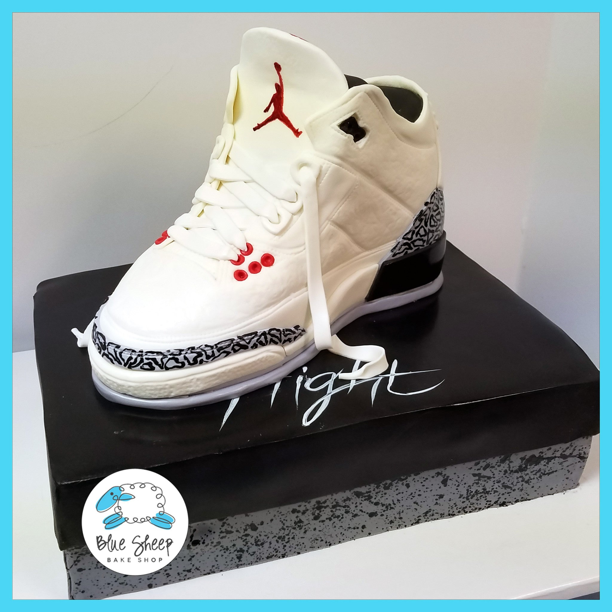 Michael Jordan Sneaker Cake Blue Sheep Bake Shop