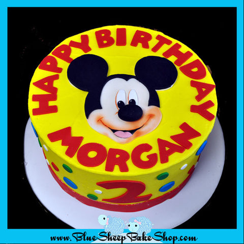 mickey mouse birthday cake nj - blue sheep custom cakes nj
