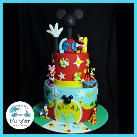 mickey mouse clubhouse custom cake nj