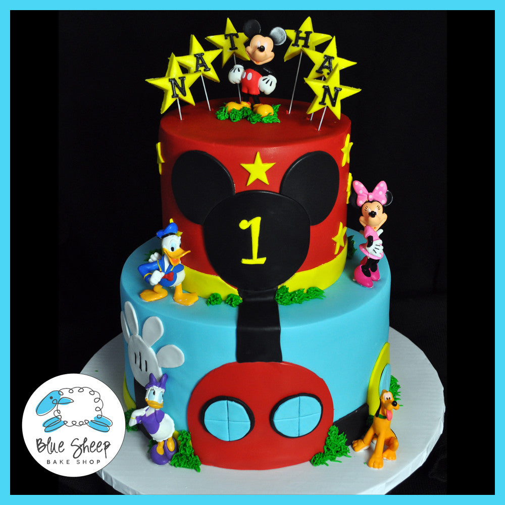 Mickey Mouse Clubhouse Inspired Cake | Blue Sheep Bake Shop