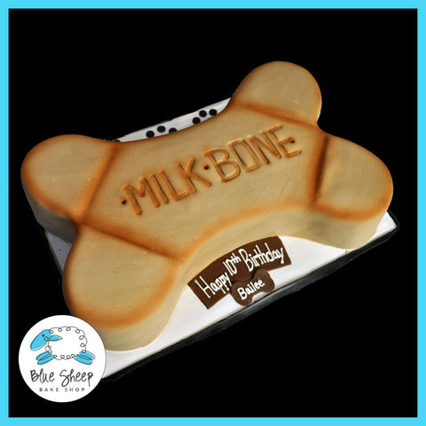 milk bone birthday cake