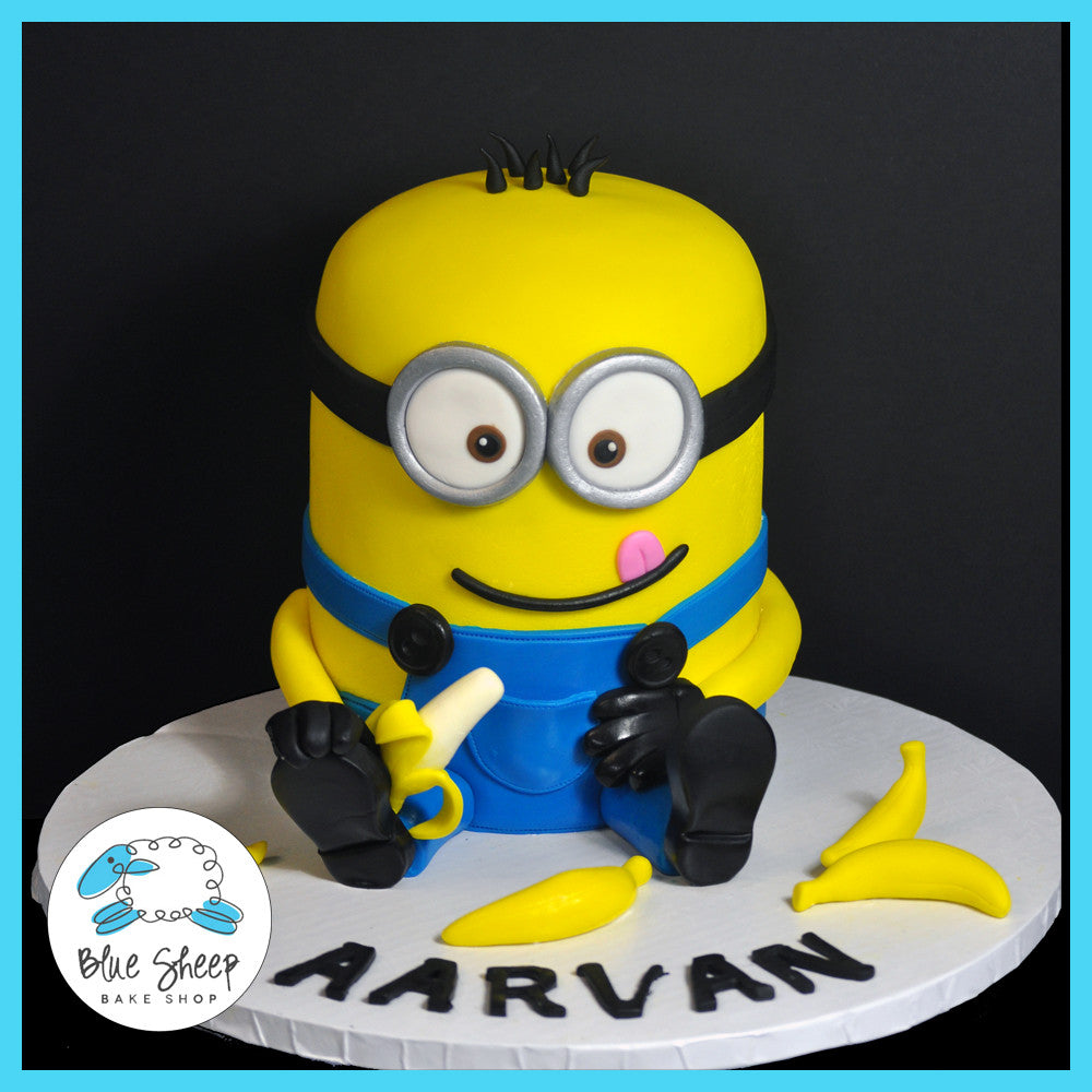 Swell Minion Birthday Cake Blue Sheep Bake Shop Funny Birthday Cards Online Eattedamsfinfo