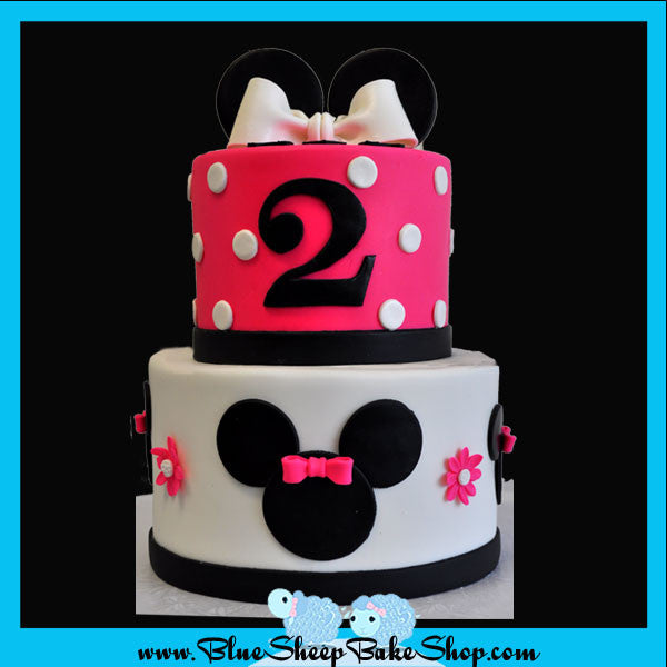 Prime Minnie Mouse 2Nd Birthday Cake Blue Sheep Bake Shop Funny Birthday Cards Online Inifodamsfinfo