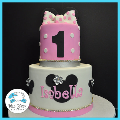 Minnie Inspired 1st Birthday Cake