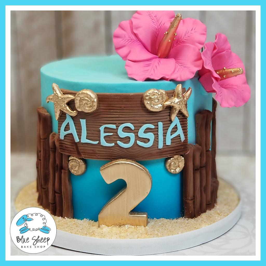 Moana Inspired Buttercream Birthday Cake