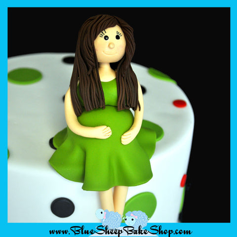 mommy to be baby shower cake topper