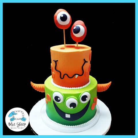 monster 1st birthday cake