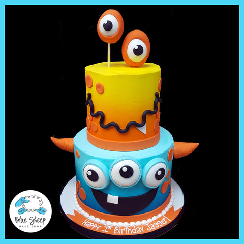 Orange and Blue Monster Cake NJ