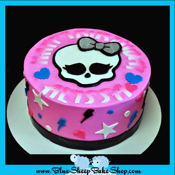 Groovy Monster High Custom Cake By Blue Sheep Custom Cakes Nj Blue Funny Birthday Cards Online Inifofree Goldxyz