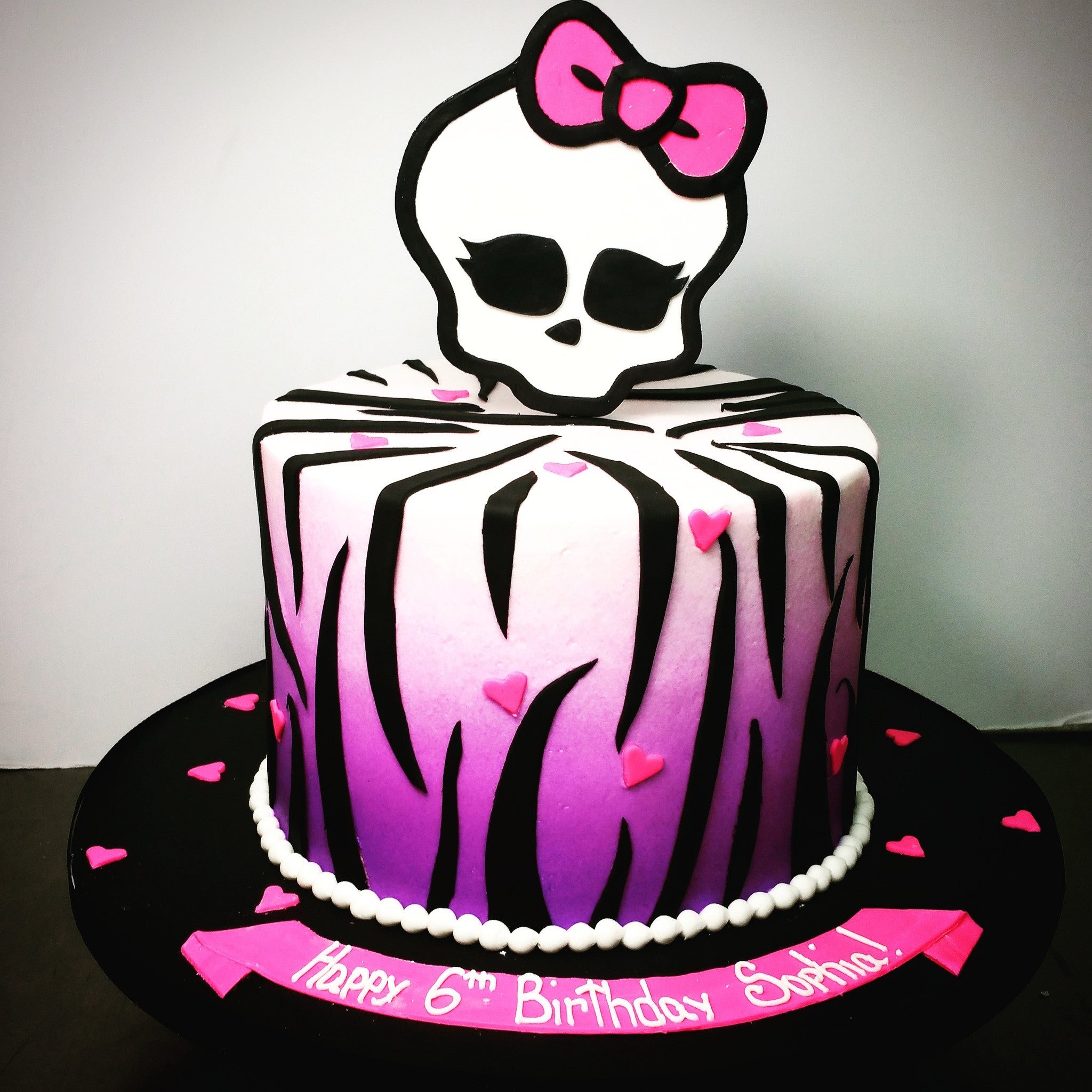 Buttercream Monster High Birthday Cake Blue Sheep Bake Shop