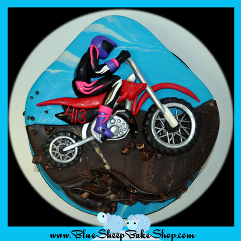 motocross racing birthday cake