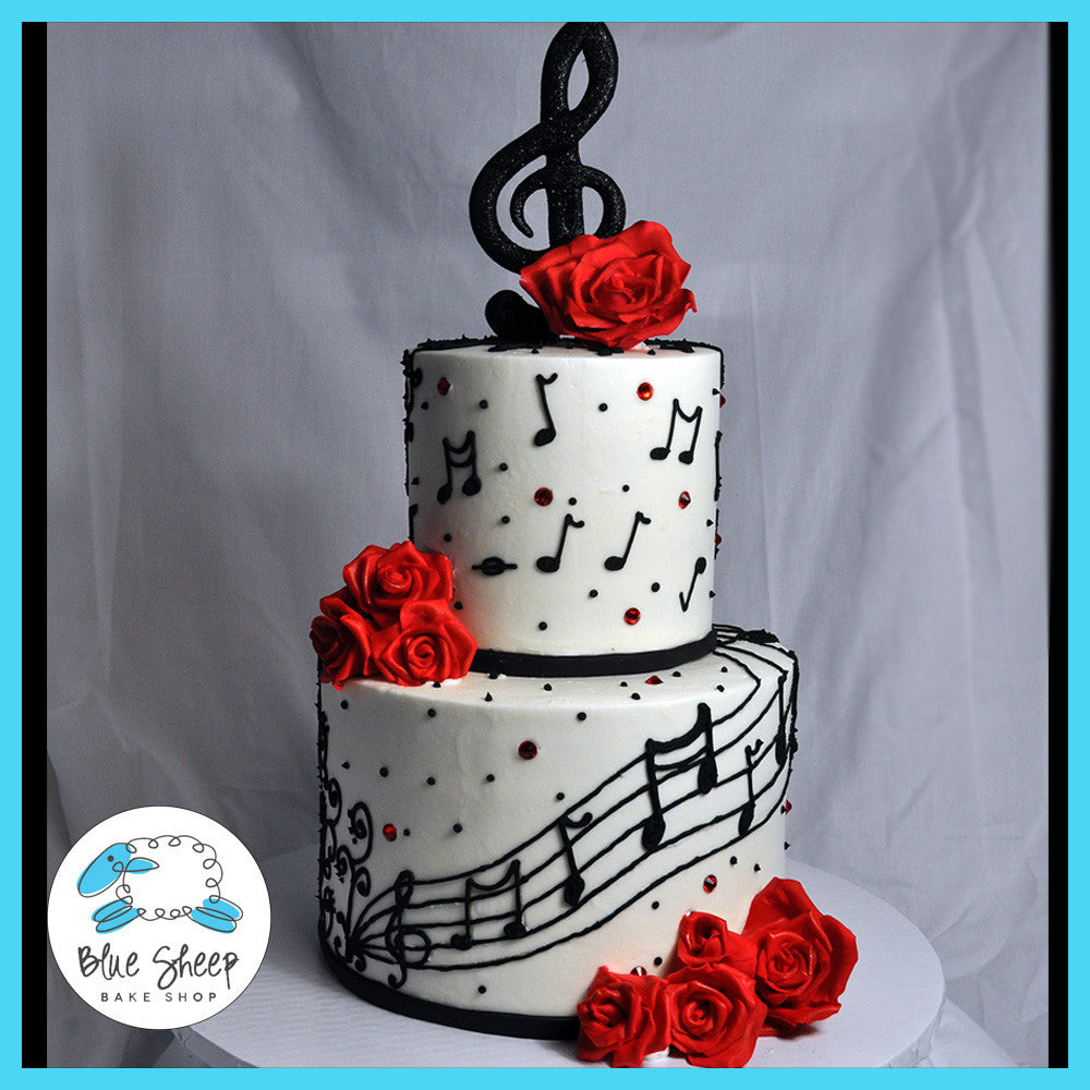 Music Note Birthday Cake – Blue Sheep Bake Shop
