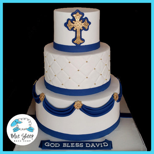 boys communion cake nj