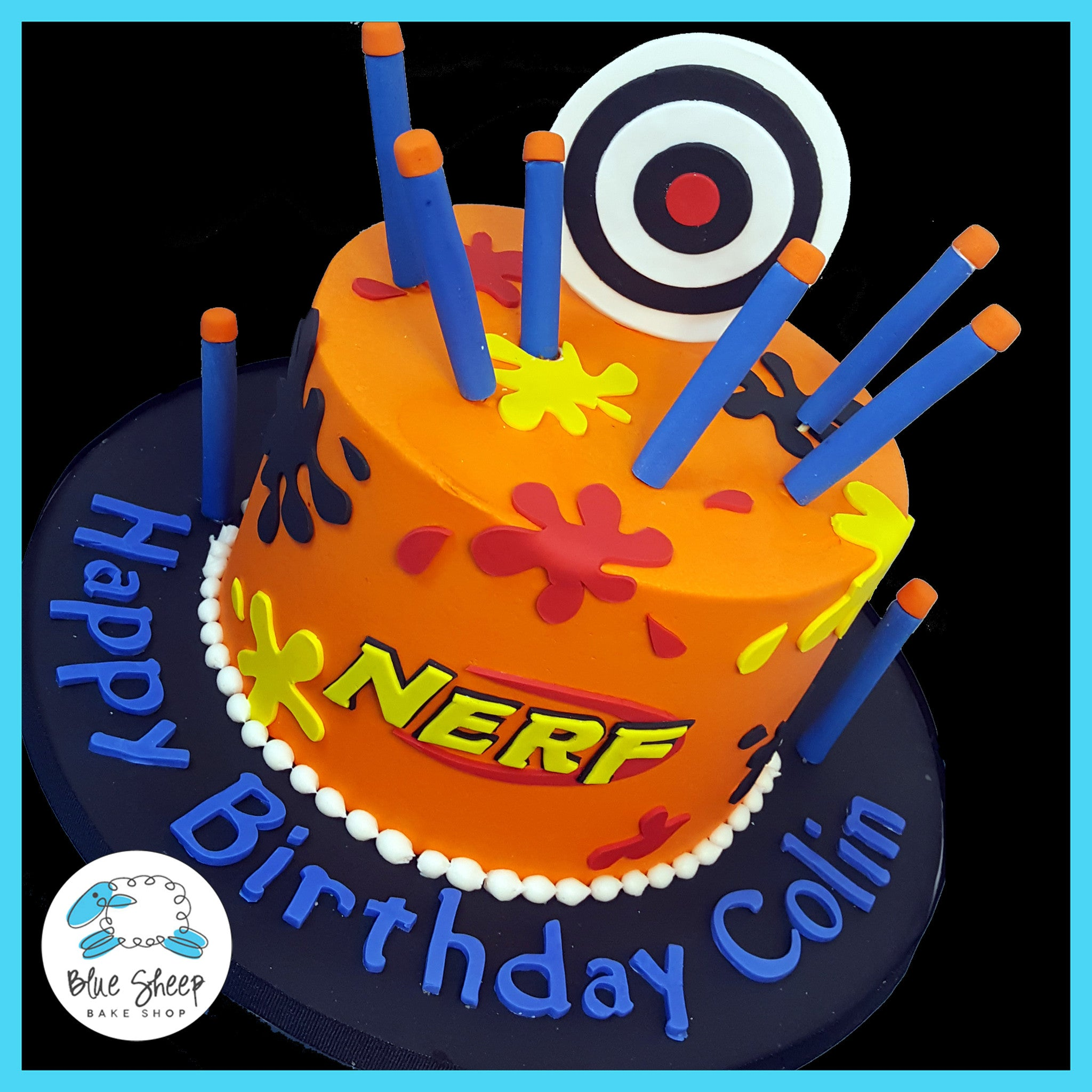 Nerf Birthday Cake Blue Sheep Bake Shop