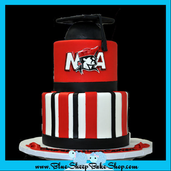 newark academy custom graduation cake