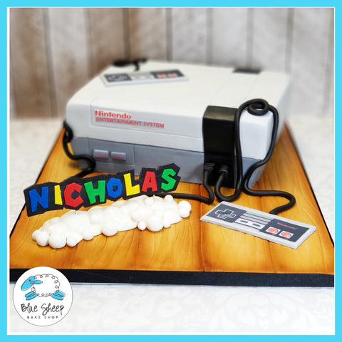 nintendo console birthday cake nj