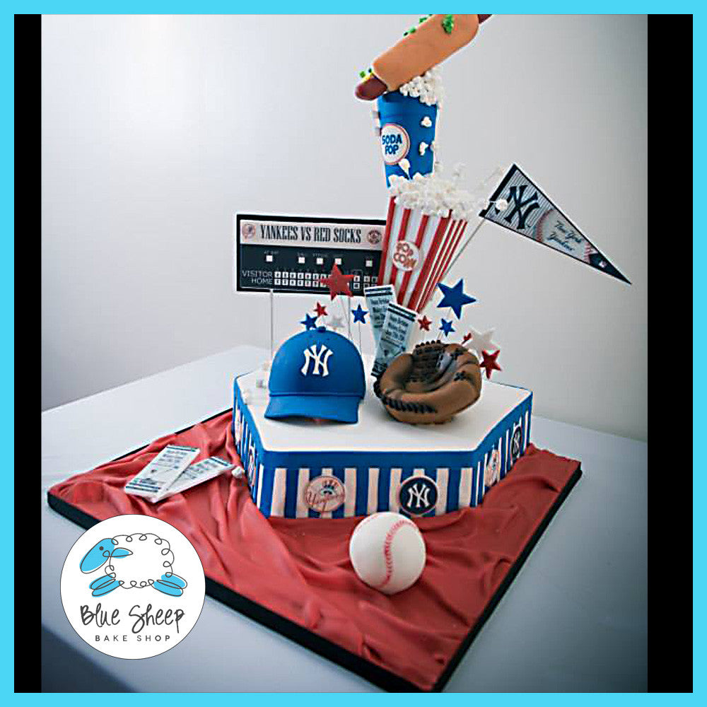 Ny Yankees Birthday Cake Blue Sheep Bake Shop