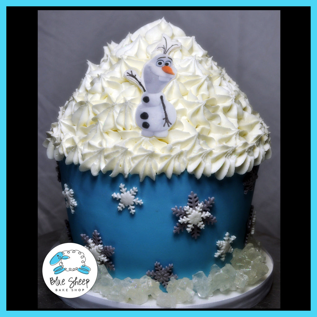 olaf from frozen birthday cake