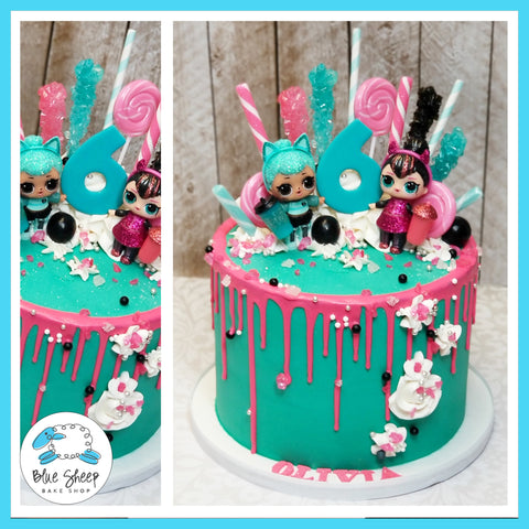 Olivia's LOL Drip Birthday Cake - NJ Custom Cakes