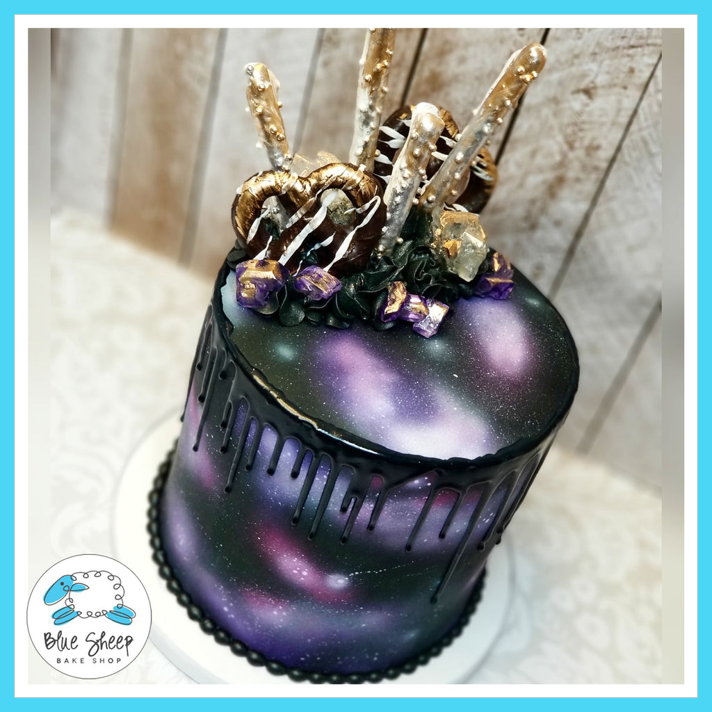 Deep Space Sweet 16 Cake