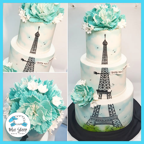 paris sweet 16 cake nj