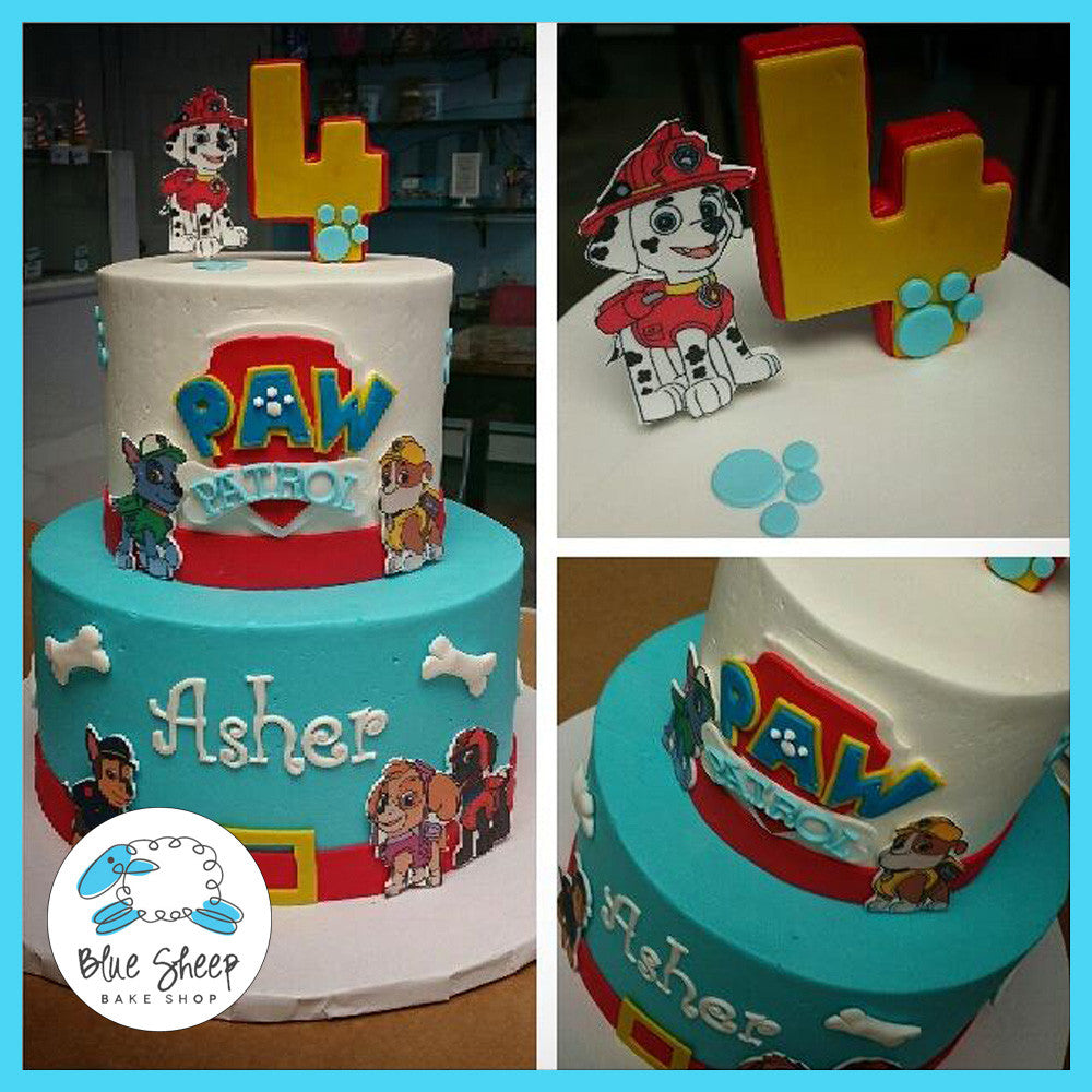 Paw Patrol Birthday Cake Blue Sheep Bake Shop