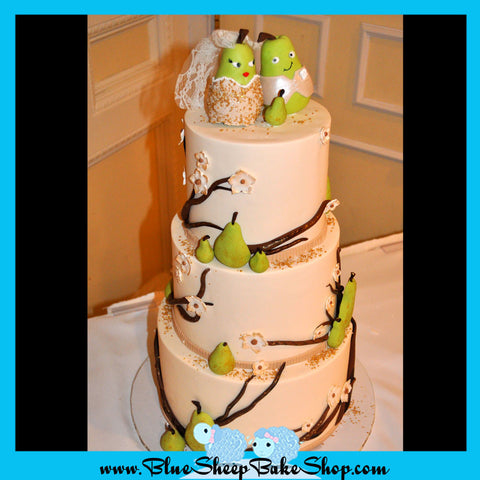 Perfect Pair (Pear!) Wedding Cake