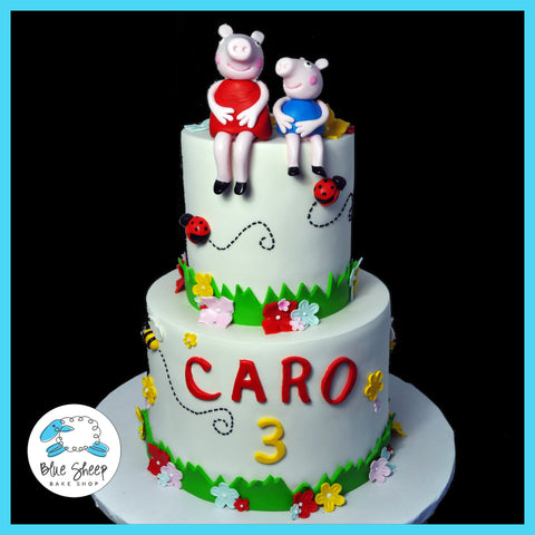 peppa pig birthday cake nj