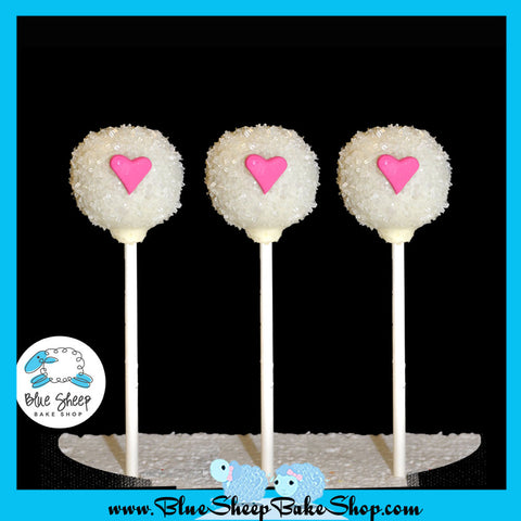 12 Wedding Heart Cake Pops