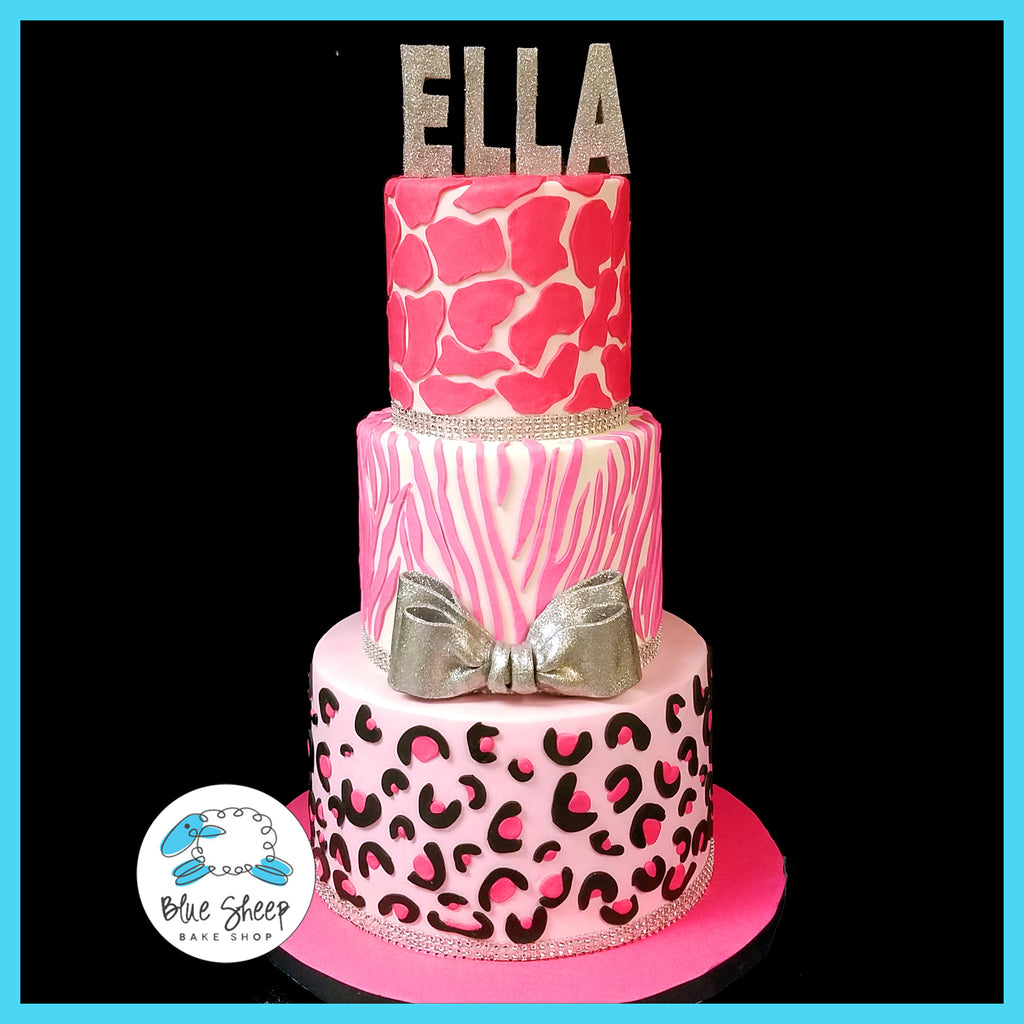 animal print bat mitzvah cake NJ