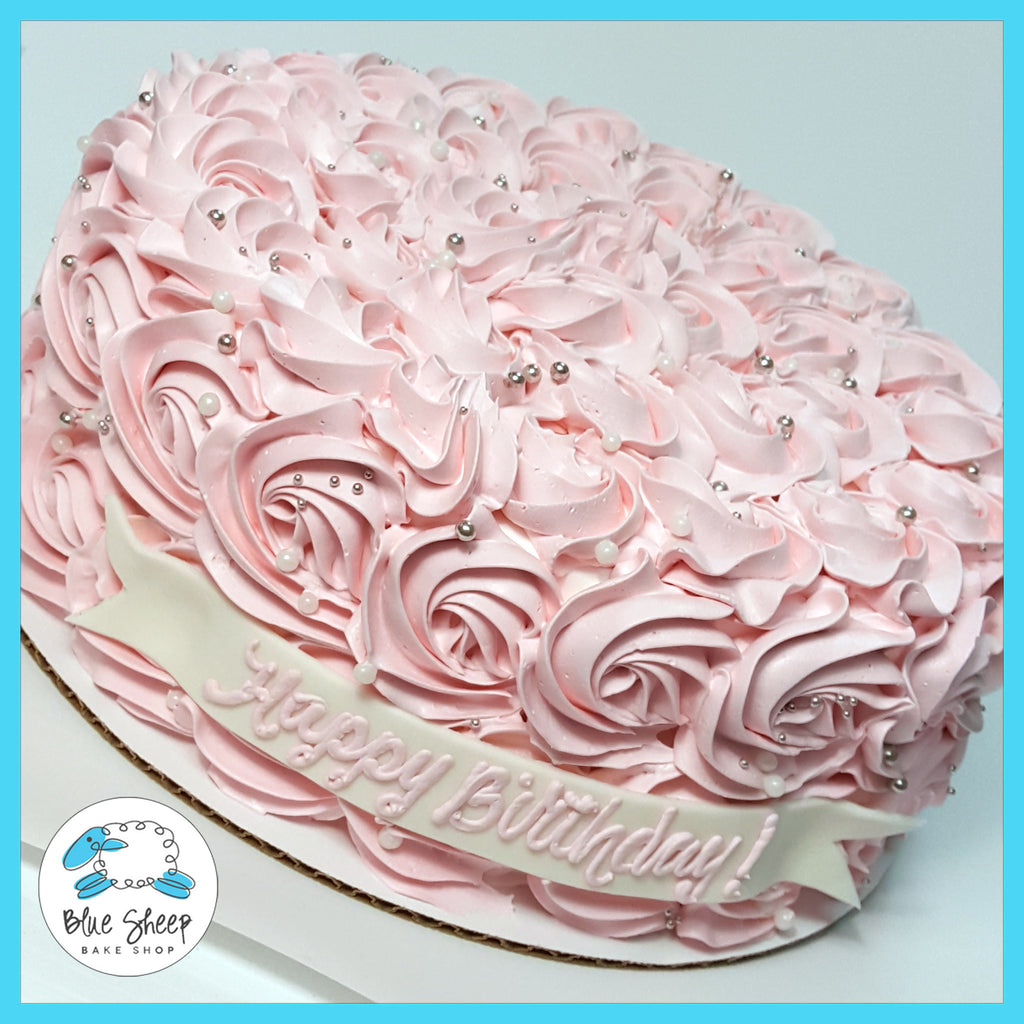 pink rosette ice cream cake nj