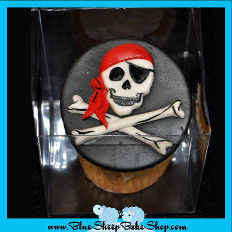 Pirate Jumbo Birthday cake cupcake - Blue Sheep Bake Shop Custom Specialty Cakes NJ
