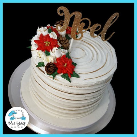 Poinsettia Christmas Cake NJ