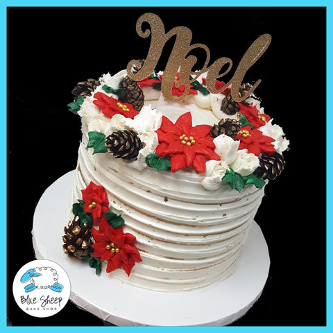 christmas poinsettia cake nj