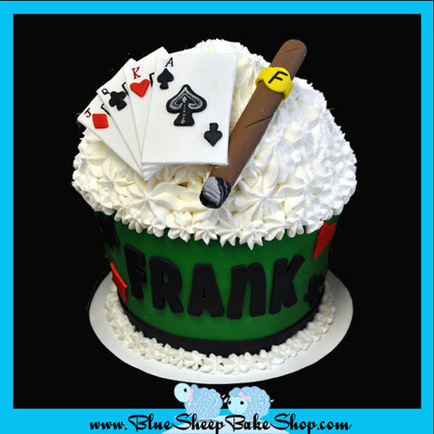poker birthday custom cakes