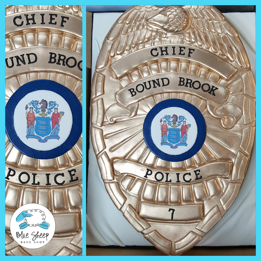 police badge cake nj