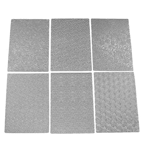 6pcs Floral Texture Sheet Set Sugar Craft Decoration Texture Mat Cake Mold Cake Mould Bakeware Accessoreis for Wedding Cake